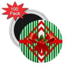 Christmas Gift Wrap Decoration Red 2.25  Magnets (100 pack)