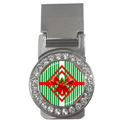 Christmas Gift Wrap Decoration Red Money Clips (CZ)