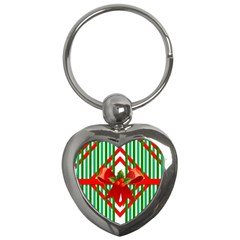 Christmas Gift Wrap Decoration Red Key Chains (heart)