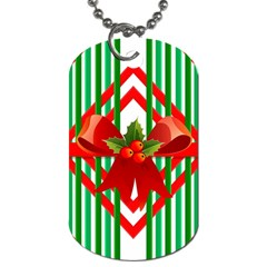 Christmas Gift Wrap Decoration Red Dog Tag (One Side)