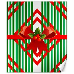 Christmas Gift Wrap Decoration Red Canvas 8  X 10