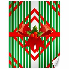 Christmas Gift Wrap Decoration Red Canvas 12  x 16