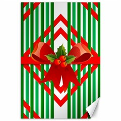Christmas Gift Wrap Decoration Red Canvas 12  x 18