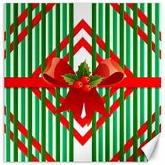 Christmas Gift Wrap Decoration Red Canvas 16  X 16