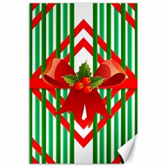 Christmas Gift Wrap Decoration Red Canvas 24  x 36
