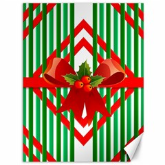 Christmas Gift Wrap Decoration Red Canvas 36  x 48