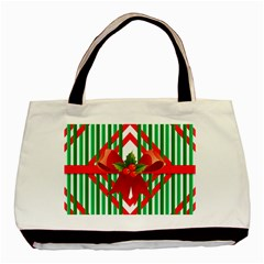 Christmas Gift Wrap Decoration Red Basic Tote Bag (Two Sides)