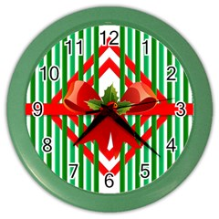 Christmas Gift Wrap Decoration Red Color Wall Clocks
