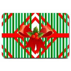 Christmas Gift Wrap Decoration Red Large Doormat