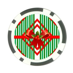 Christmas Gift Wrap Decoration Red Poker Chip Card Guard