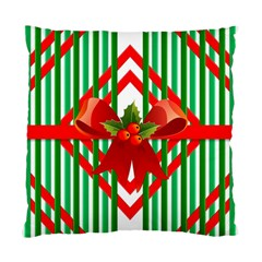 Christmas Gift Wrap Decoration Red Standard Cushion Case (One Side)