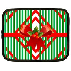 Christmas Gift Wrap Decoration Red Netbook Case (xl)
