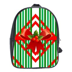 Christmas Gift Wrap Decoration Red School Bags(Large)