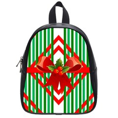 Christmas Gift Wrap Decoration Red School Bags (small)