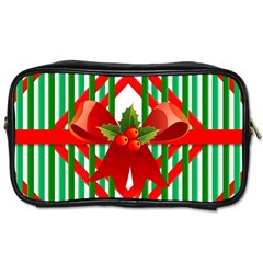 Christmas Gift Wrap Decoration Red Toiletries Bags 2-Side