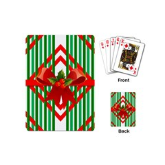 Christmas Gift Wrap Decoration Red Playing Cards (Mini)