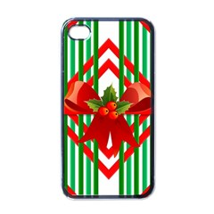 Christmas Gift Wrap Decoration Red Apple iPhone 4 Case (Black)