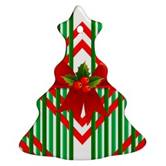 Christmas Gift Wrap Decoration Red Christmas Tree Ornament (Two Sides)