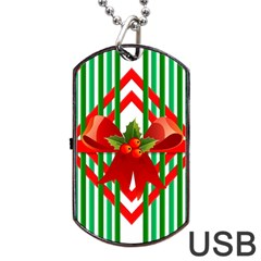 Christmas Gift Wrap Decoration Red Dog Tag USB Flash (Two Sides)
