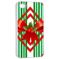 Christmas Gift Wrap Decoration Red Apple iPhone 4/4s Seamless Case (White)