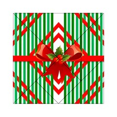 Christmas Gift Wrap Decoration Red Acrylic Tangram Puzzle (6  x 6 )