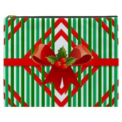 Christmas Gift Wrap Decoration Red Cosmetic Bag (xxxl)