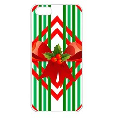 Christmas Gift Wrap Decoration Red Apple Iphone 5 Seamless Case (white)