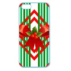 Christmas Gift Wrap Decoration Red Apple Seamless Iphone 5 Case (color)