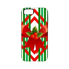 Christmas Gift Wrap Decoration Red Apple iPhone 5 Classic Hardshell Case (PC+Silicone)