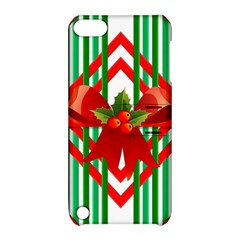 Christmas Gift Wrap Decoration Red Apple iPod Touch 5 Hardshell Case with Stand