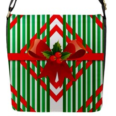 Christmas Gift Wrap Decoration Red Flap Messenger Bag (s)