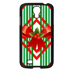 Christmas Gift Wrap Decoration Red Samsung Galaxy S4 I9500/ I9505 Case (black)