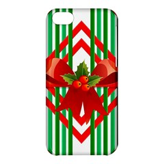 Christmas Gift Wrap Decoration Red Apple Iphone 5c Hardshell Case