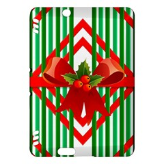 Christmas Gift Wrap Decoration Red Kindle Fire Hdx Hardshell Case
