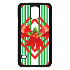 Christmas Gift Wrap Decoration Red Samsung Galaxy S5 Case (Black)