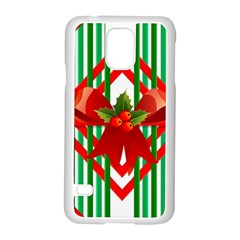 Christmas Gift Wrap Decoration Red Samsung Galaxy S5 Case (white)