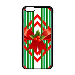 Christmas Gift Wrap Decoration Red Apple iPhone 6/6S Black Enamel Case