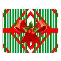 Christmas Gift Wrap Decoration Red Double Sided Flano Blanket (large)