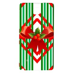 Christmas Gift Wrap Decoration Red Galaxy Note 4 Back Case