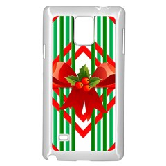 Christmas Gift Wrap Decoration Red Samsung Galaxy Note 4 Case (White)