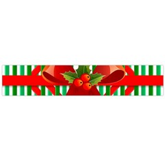 Christmas Gift Wrap Decoration Red Flano Scarf (large)
