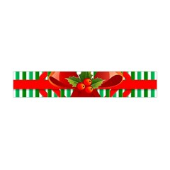 Christmas Gift Wrap Decoration Red Flano Scarf (Mini)