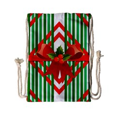 Christmas Gift Wrap Decoration Red Drawstring Bag (Small)