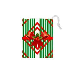 Christmas Gift Wrap Decoration Red Drawstring Pouches (XS)
