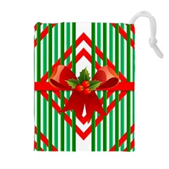 Christmas Gift Wrap Decoration Red Drawstring Pouches (extra Large)