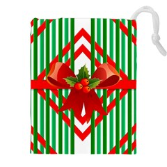 Christmas Gift Wrap Decoration Red Drawstring Pouches (XXL)