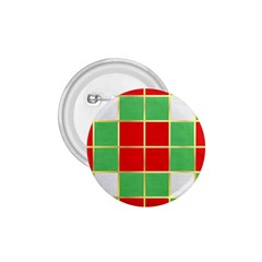Christmas Fabric Textile Red Green 1.75  Buttons