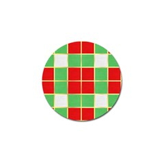 Christmas Fabric Textile Red Green Golf Ball Marker (10 pack)