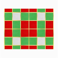 Christmas Fabric Textile Red Green Small Glasses Cloth
