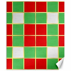 Christmas Fabric Textile Red Green Canvas 20  X 24